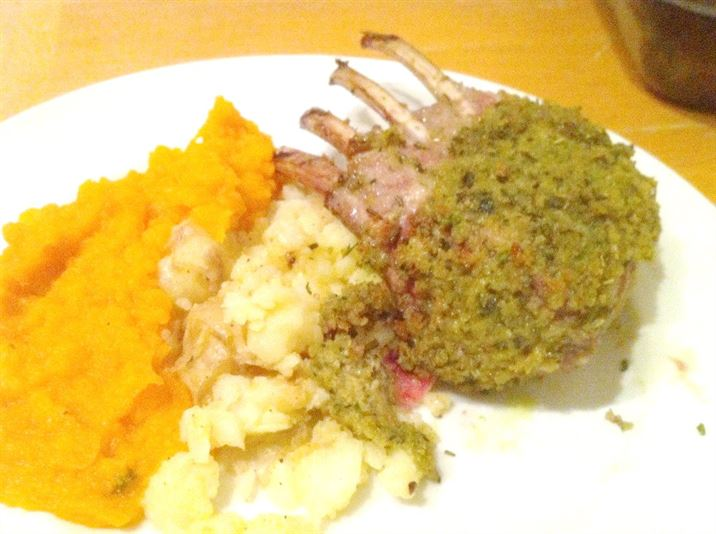 Heston Blumenthal sous vide rack of lamb with Gordon Ramsay herb crust, Lay The Table