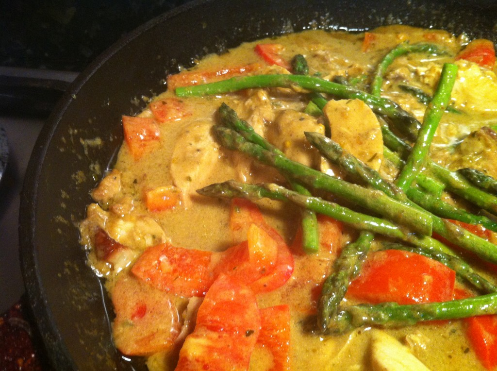 Ready in 10¦Super Simple Thai Green Leftover Chicken Curry, Lay The Table