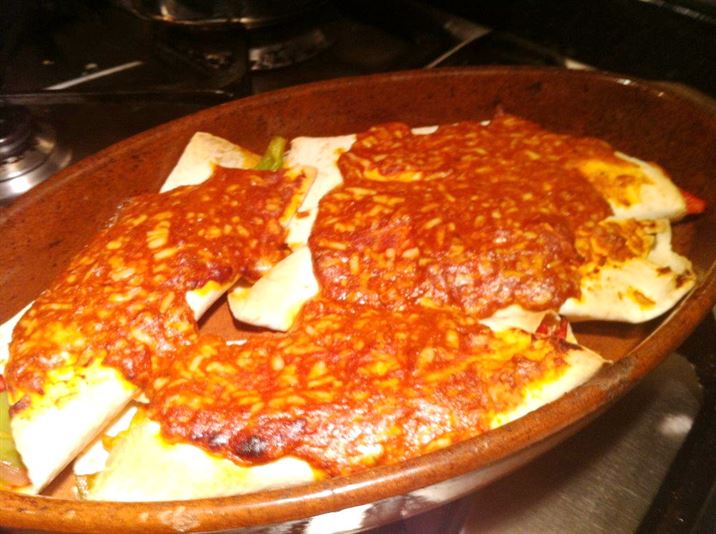 Cheesy Chicken Baked Enchiladas, Lay The Table