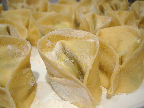 How To Make Fresh Tortelloni, Lay The Table