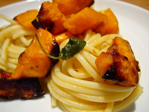 How To Make Roast Pumpkin, Butter & Sage Spaghetti, Lay The Table