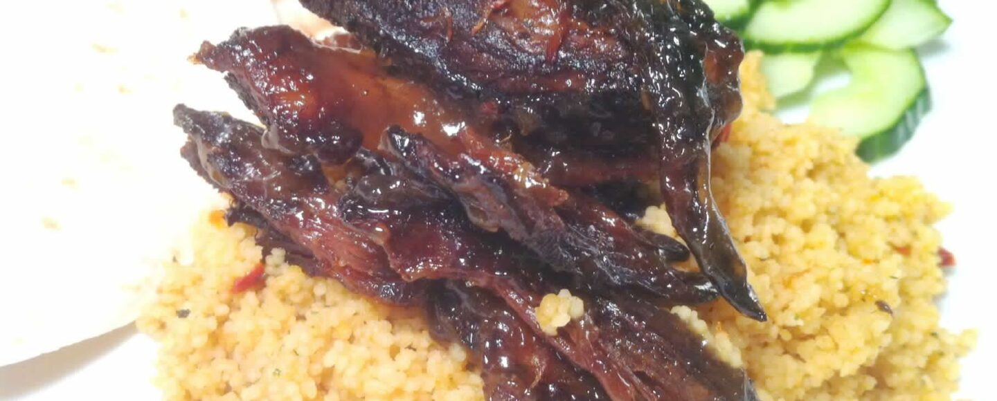 Rescue Recipe Crispy Hoi Sin Lamb with Chilli Cous Cous and Cucumber, Lay The Table