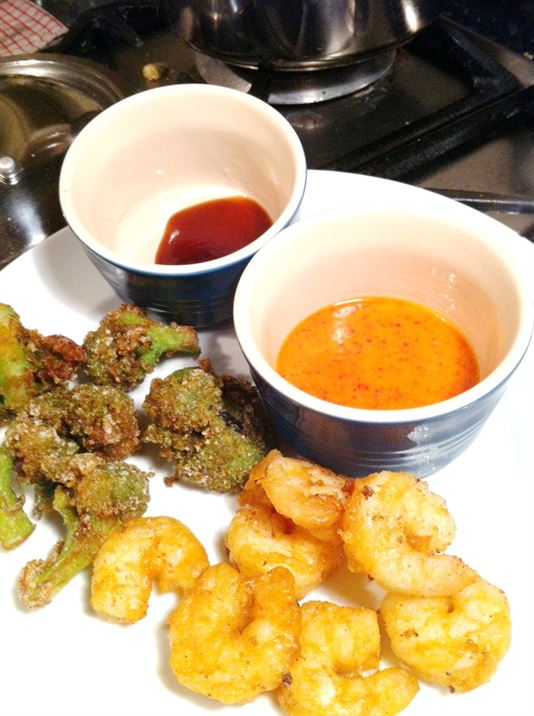 Prawn Tempura with Dodo Chilli Dipping Sauce, Lay The Table