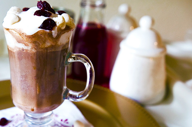 Vegan Cranberry Hot Chocolate, Lay The Table
