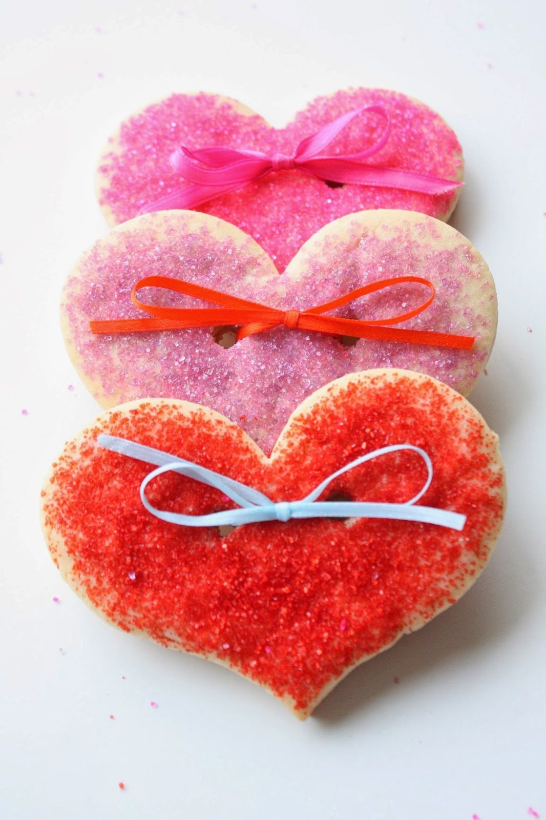 Ribboned Heart Cookies, Lay The Table