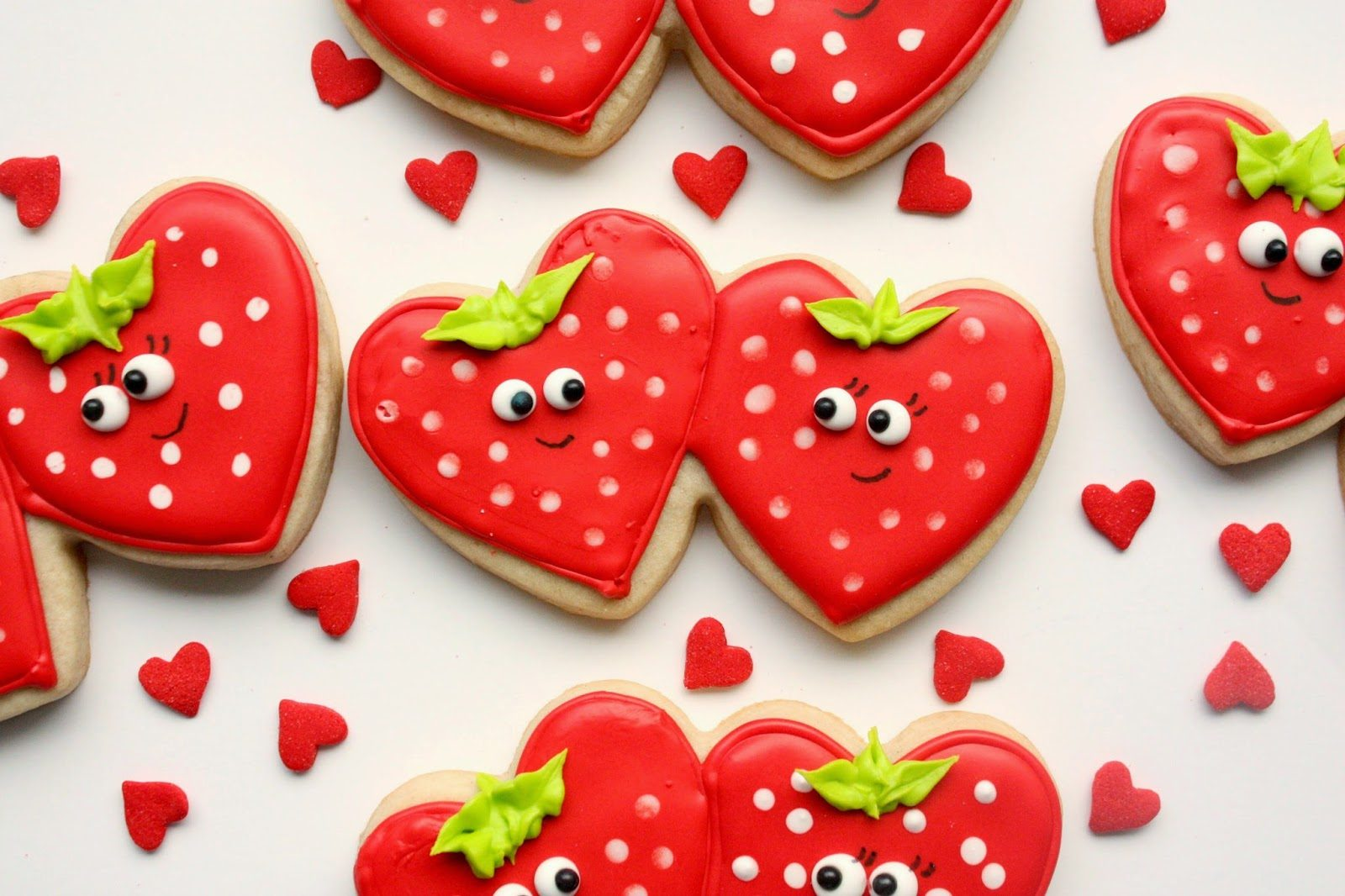 Strawberry Sweetheart Cookies, Lay The Table